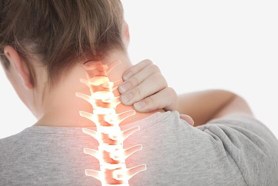child  with back and neck  pain