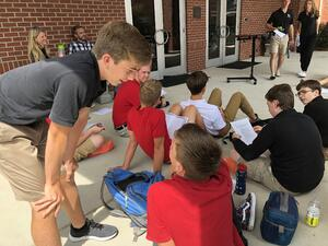 boys talking school influence interaction
