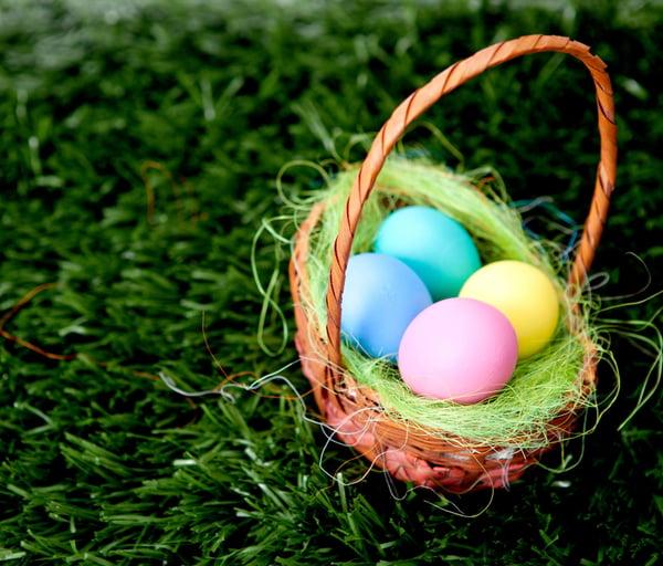 Easter egg basket scavenger hunt