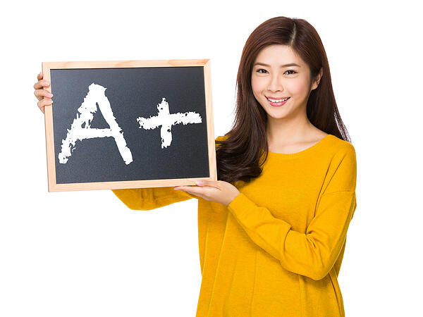 girl A grade grades school