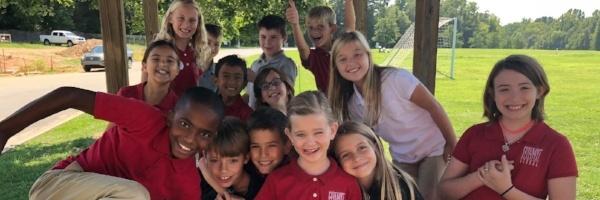 grade students outside