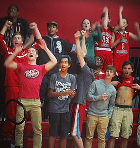 fans cheering basketball game
