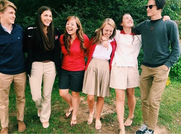 covenant classical school graduates laughing teenagers