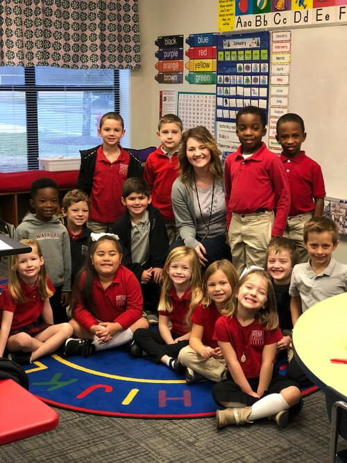 caring teacher kindergarten