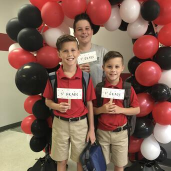 boys first day new school