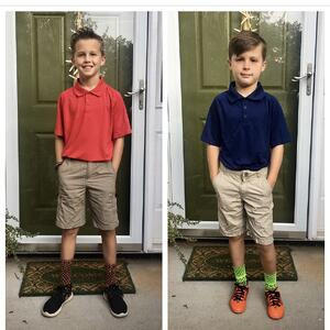 boys first day of school