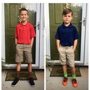 boys first day of school