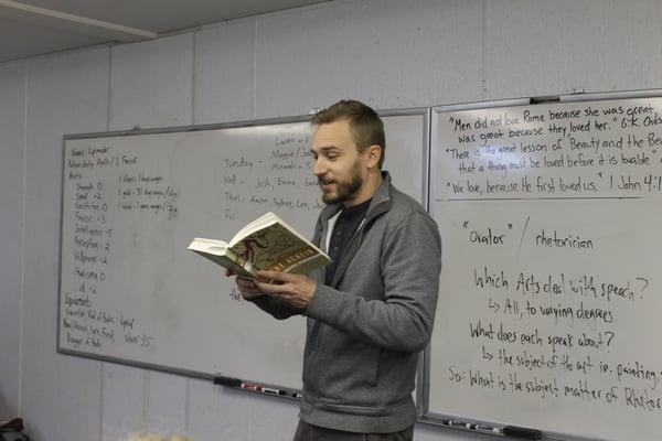 Josh Leland reading great books