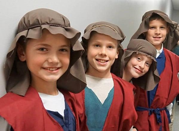 school christmas program boys shepherds