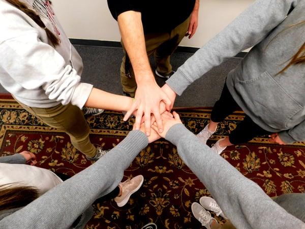 students teamwork