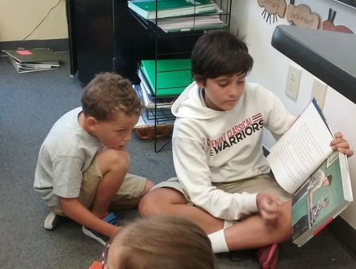 CCS reading buddies boys
