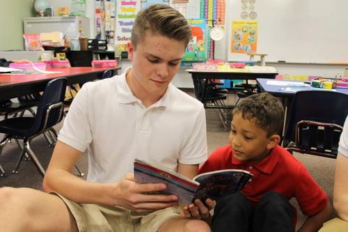 CCS library boys reading