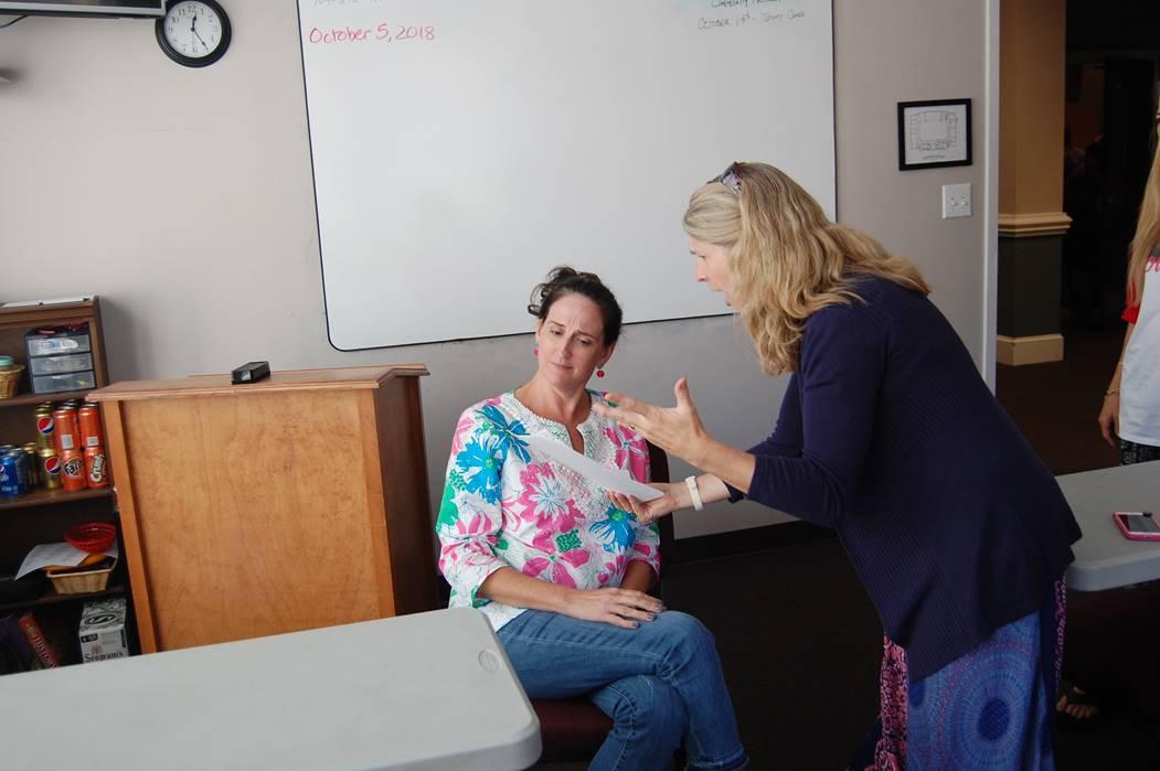parent teacher conference mom teacher