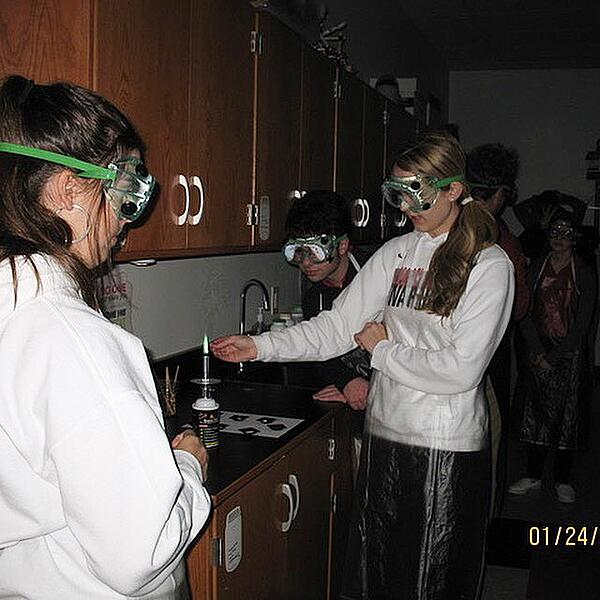 students science lab