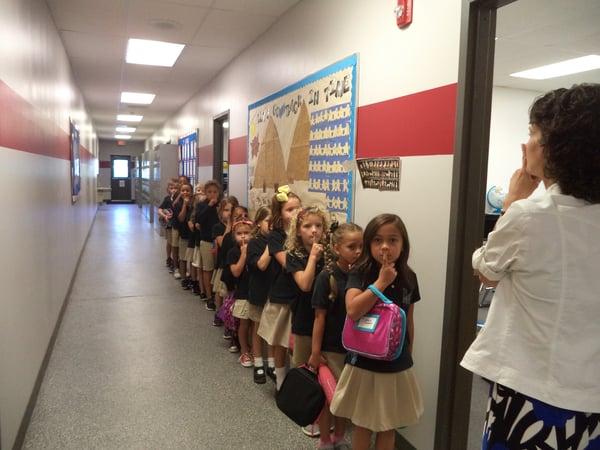 children hallway discipline order