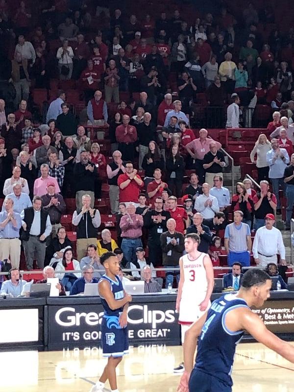 davidson college basketball fans