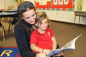 reading to preschooler